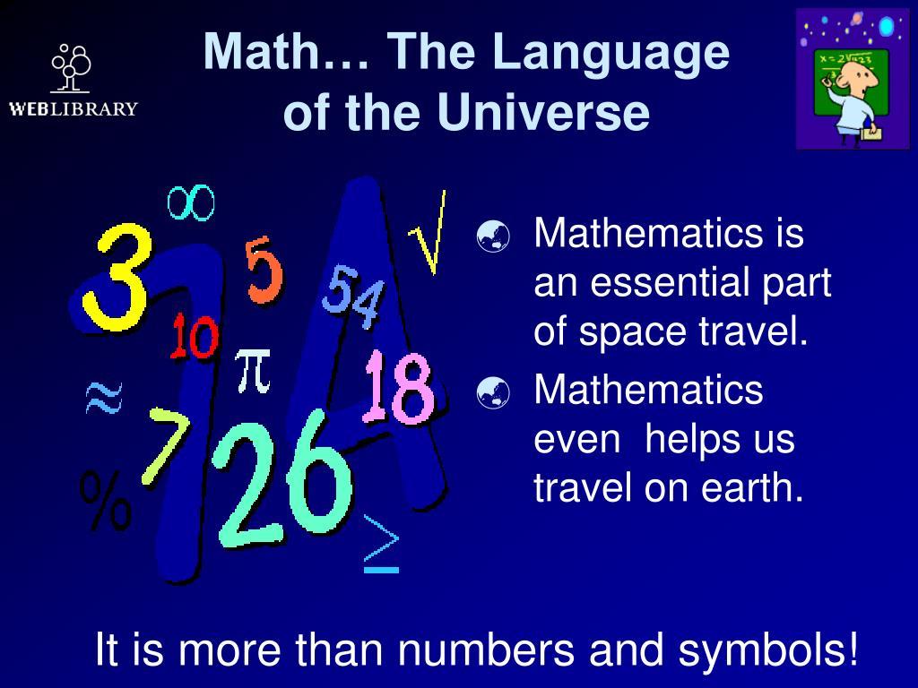 Math… The Language