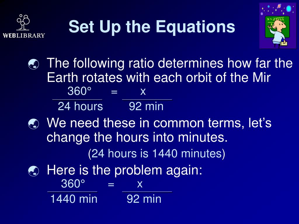 Set Up the Equations