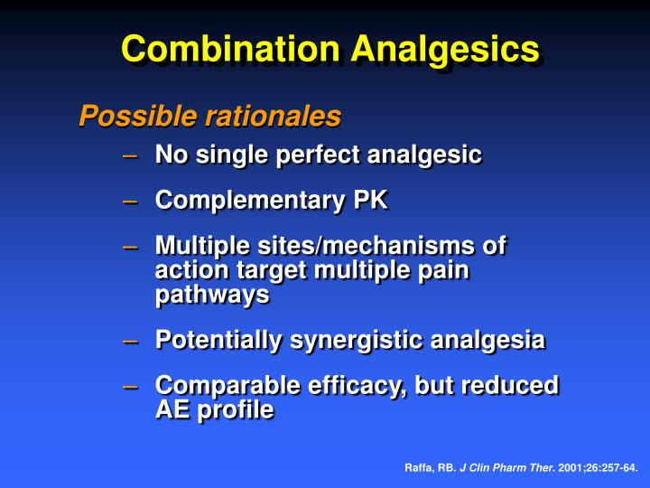 Combination Analgesics