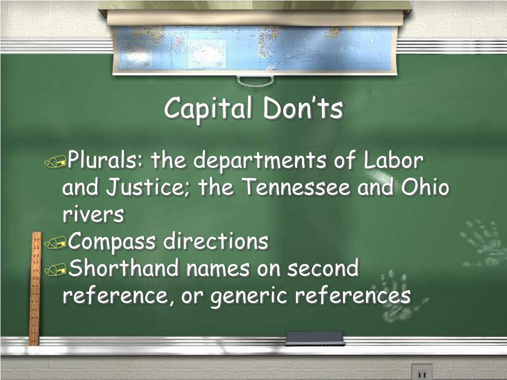 Capital Don'ts