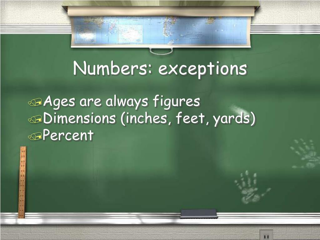 Numbers: exceptions