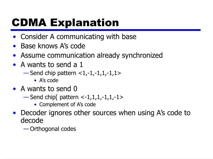 CDMA Explanation