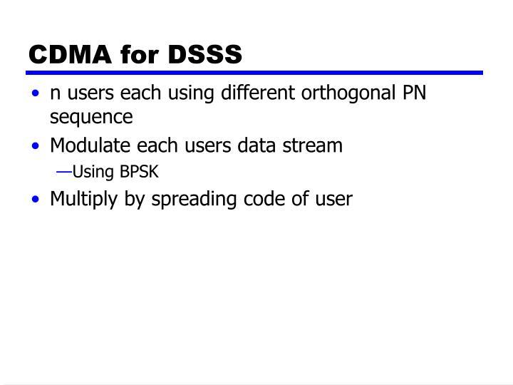 CDMA for DSSS
