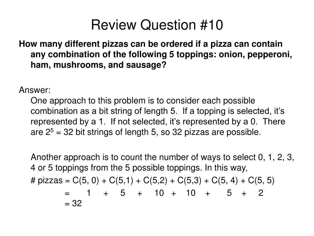 Review Question #10