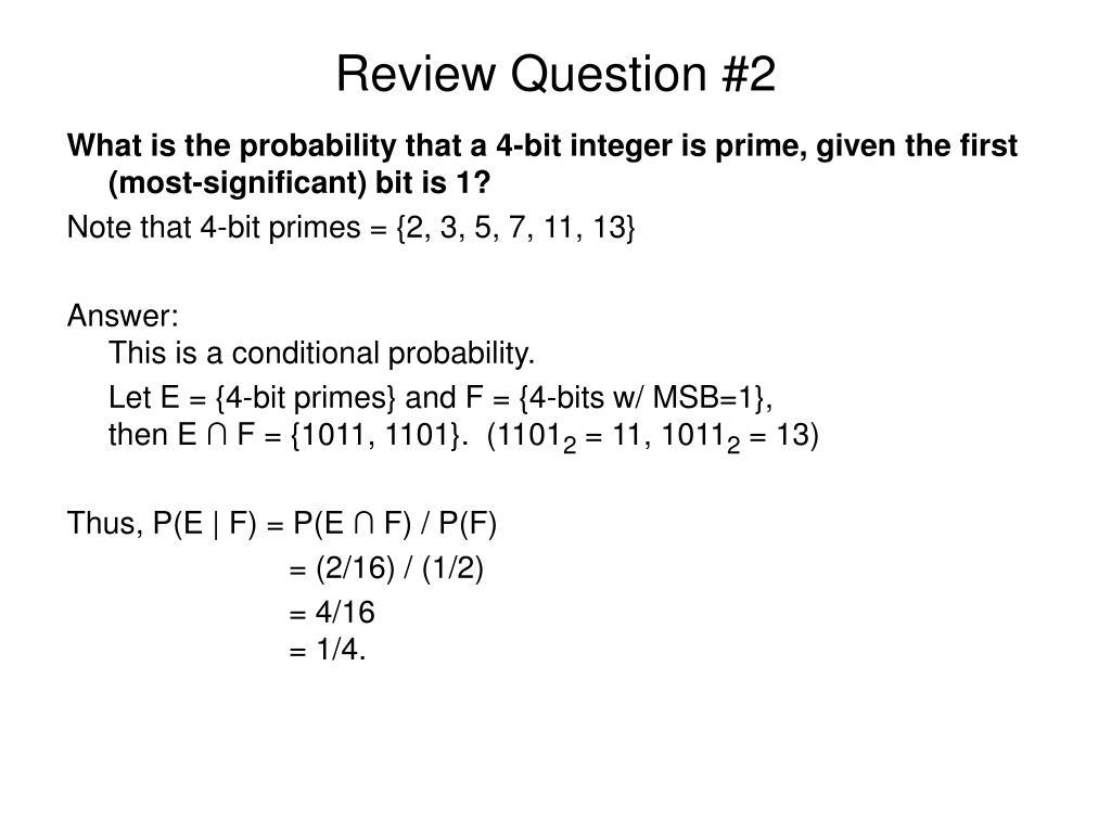 Review Question #2