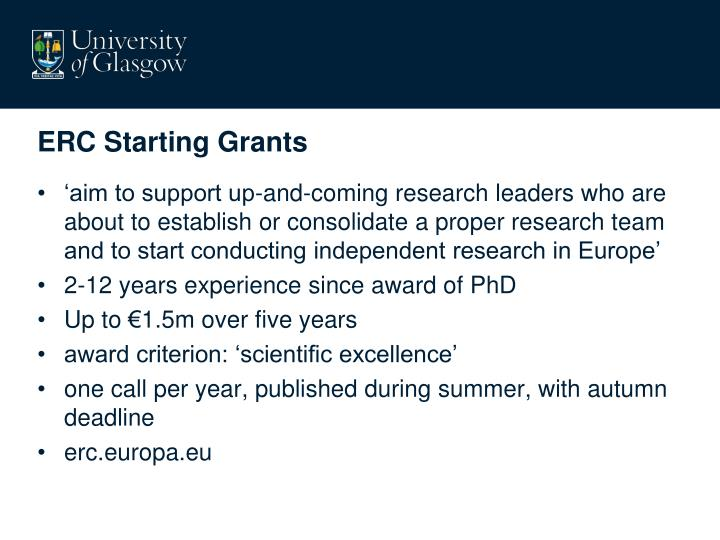 Erc starting grants