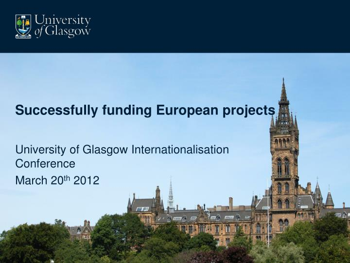 successfully funding european projects
