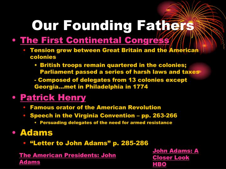 Our Founding Fathers