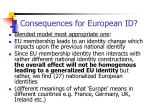 consequences for european id
