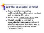 identity as a social concept