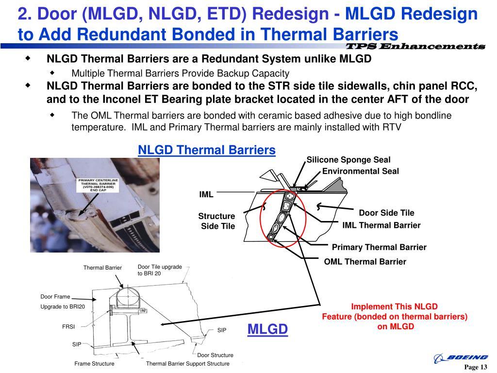 2. Door (MLGD, NLGD, ETD) Redesign -