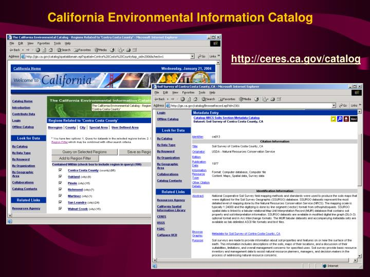 California Environmental Information Catalog