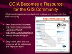 cgia becomes a resource for the gis community