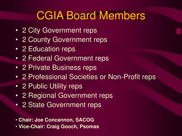 CGIA Board Members