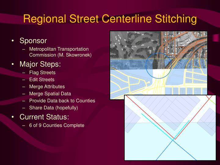 Regional Street Centerline Stitching