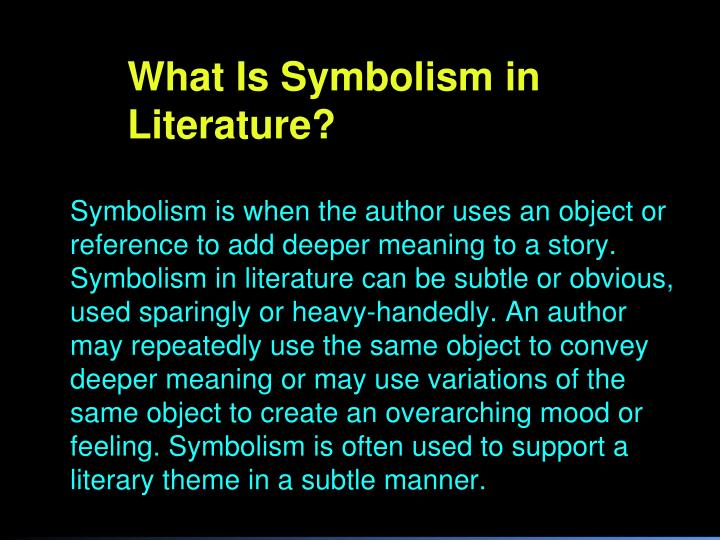 What Is Symbolism in Literature?