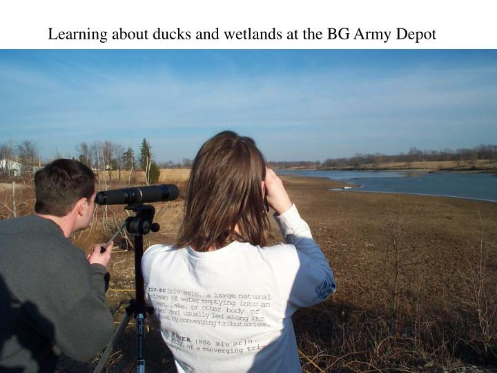 Learning about ducks and wetlands at the BG Army Depot