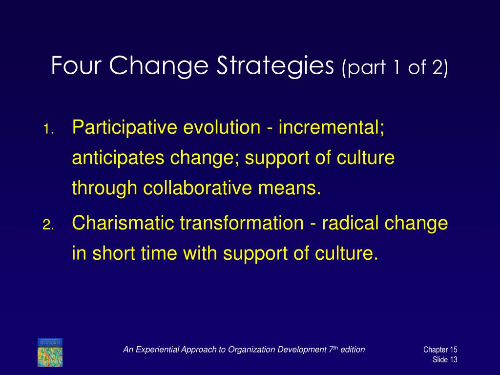 Four Change Strategies