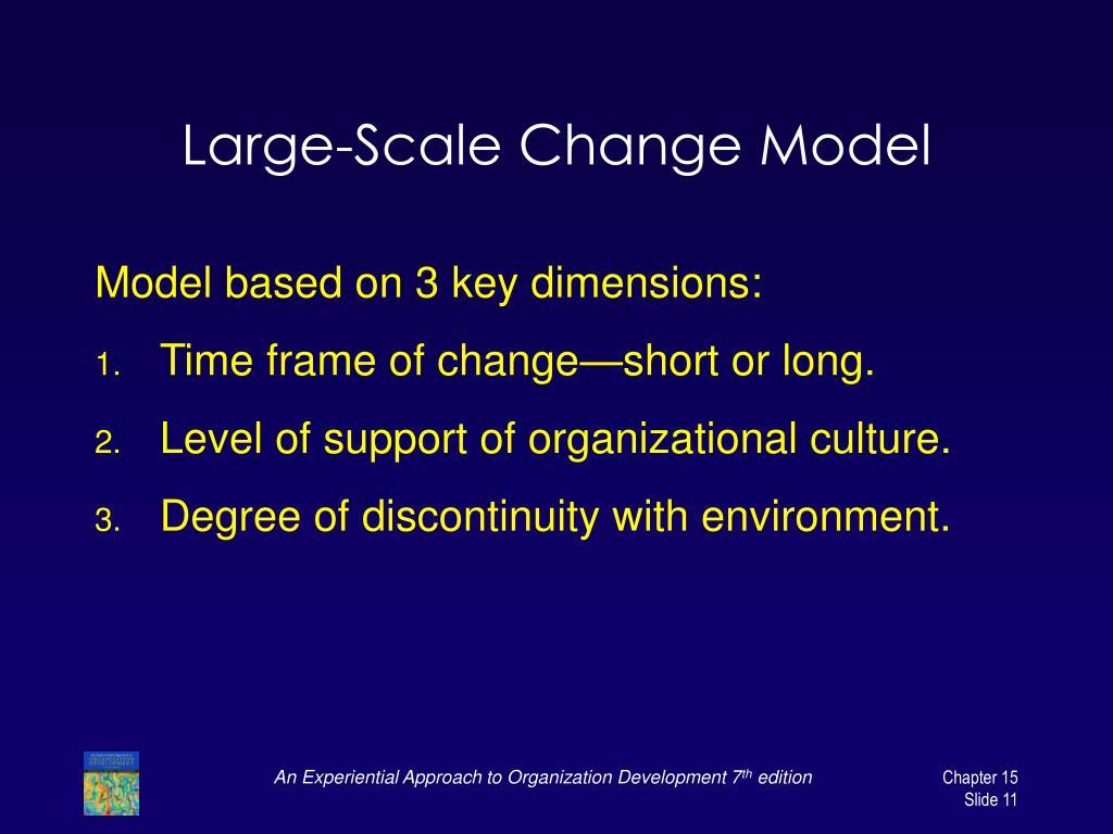 Large-Scale Change Model