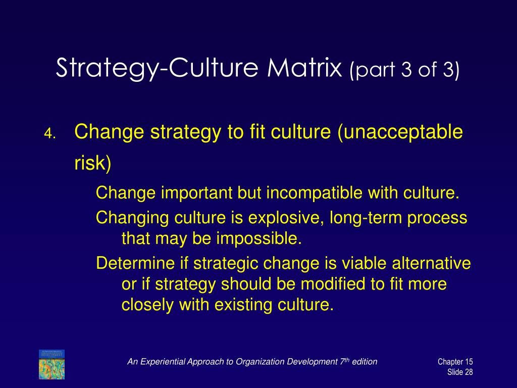 Strategy-Culture Matrix