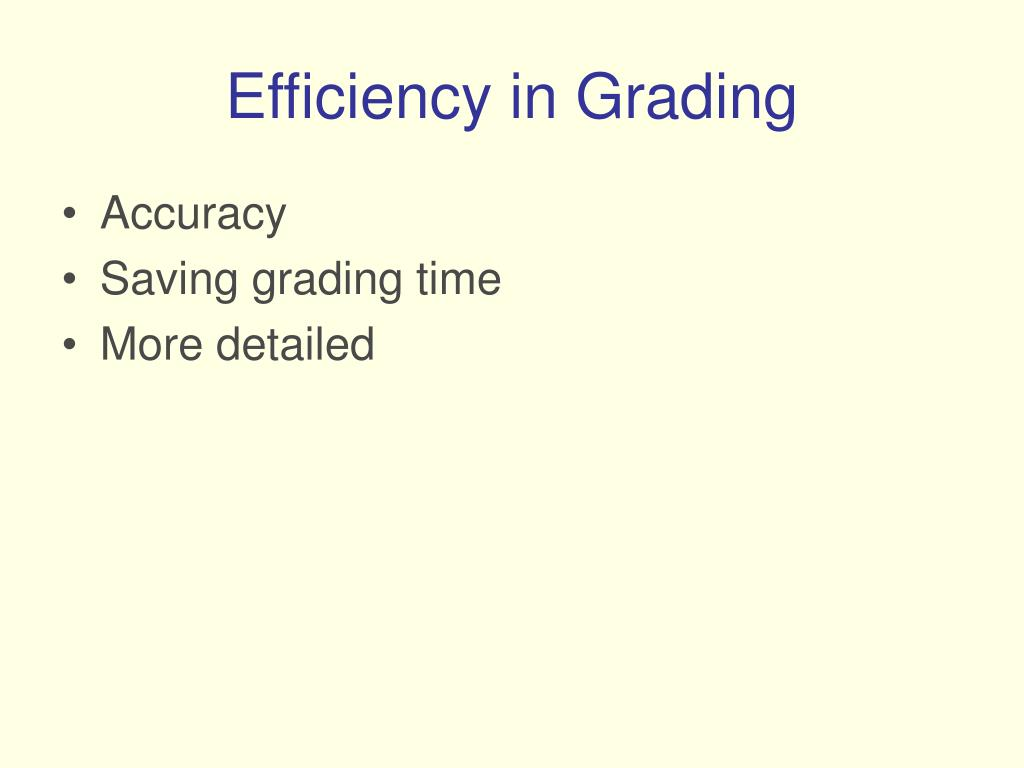 Efficiency in Grading