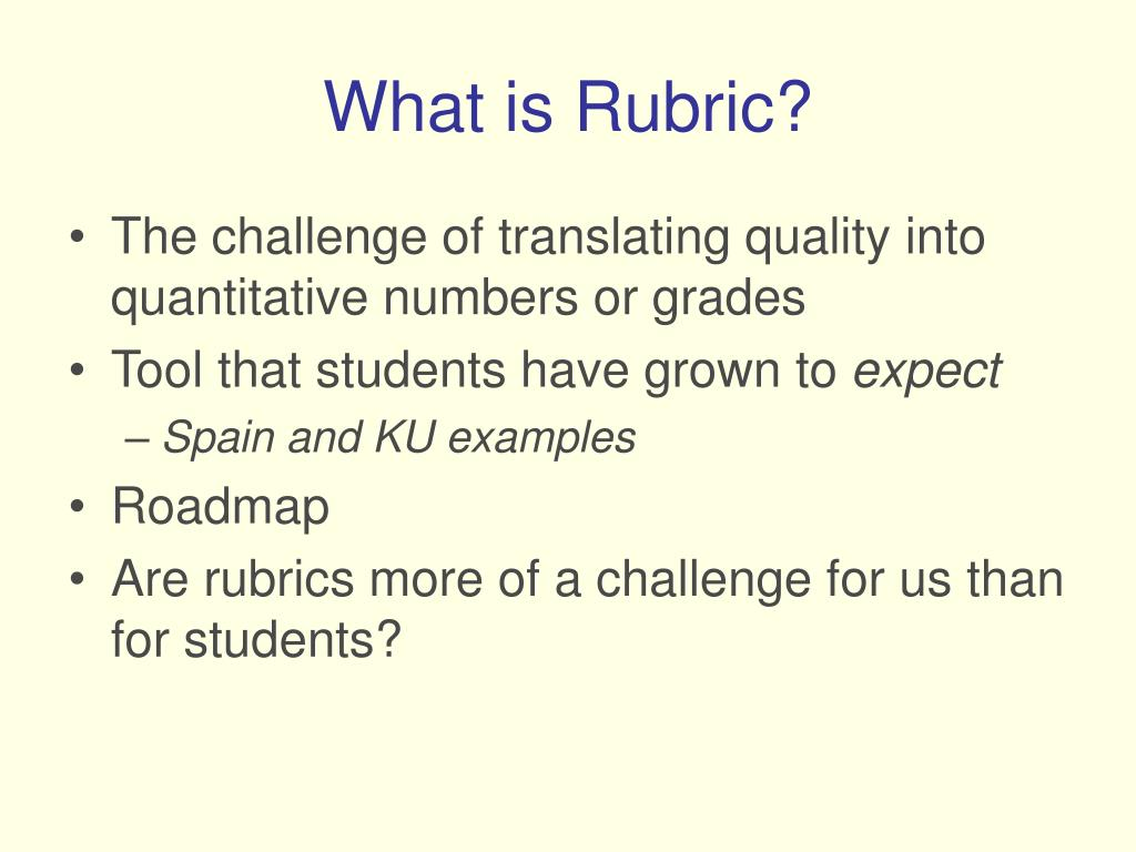 What is Rubric?