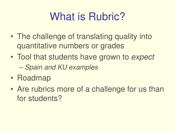What is rubric