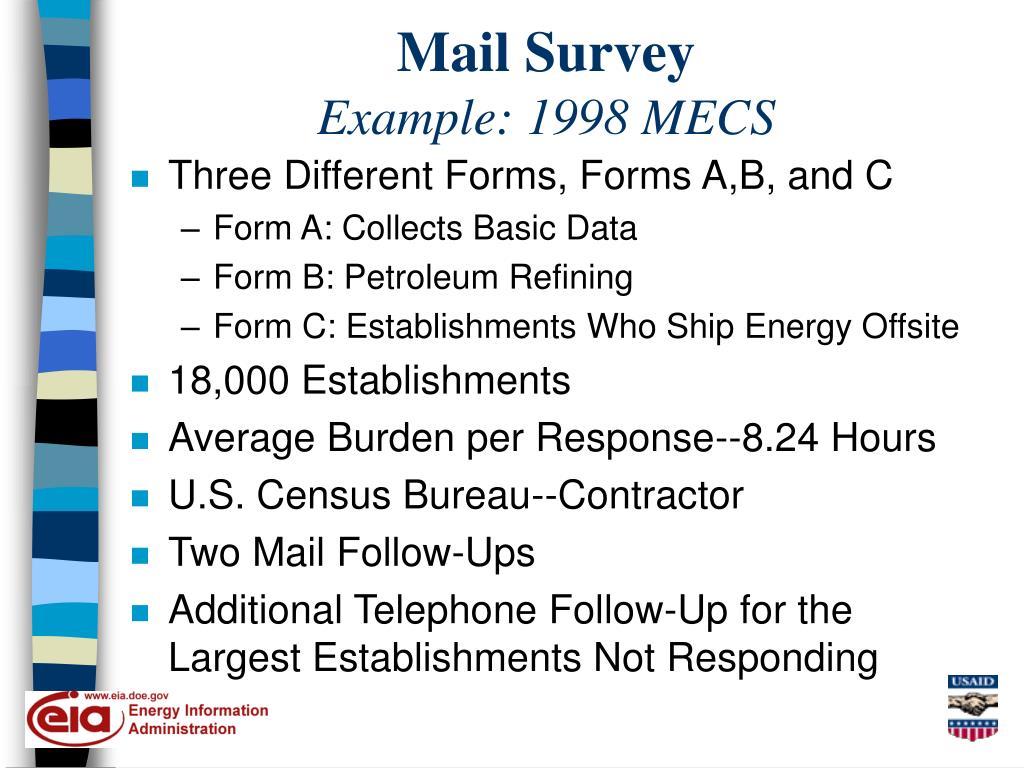 Mail Survey