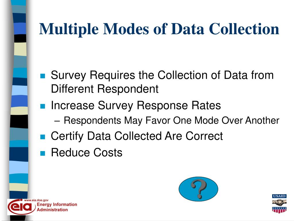 Multiple Modes of Data Collection