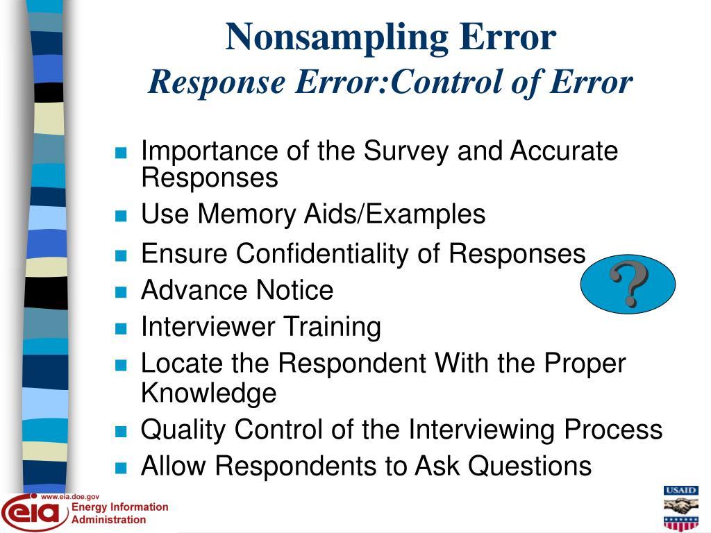 Nonsampling Error