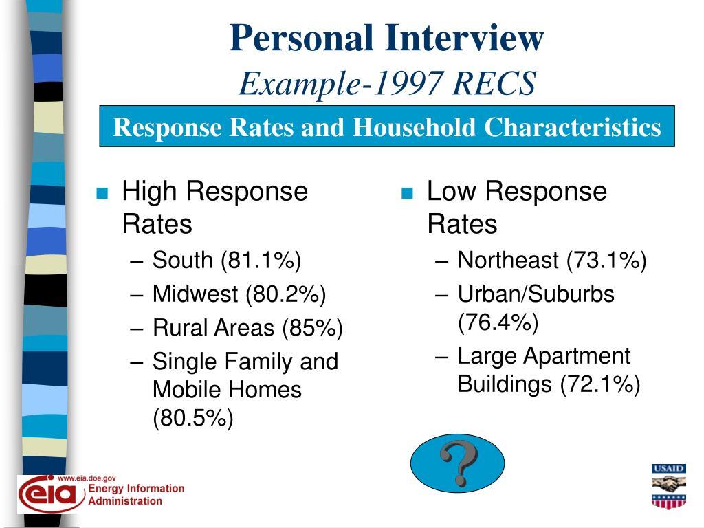 High Response Rates