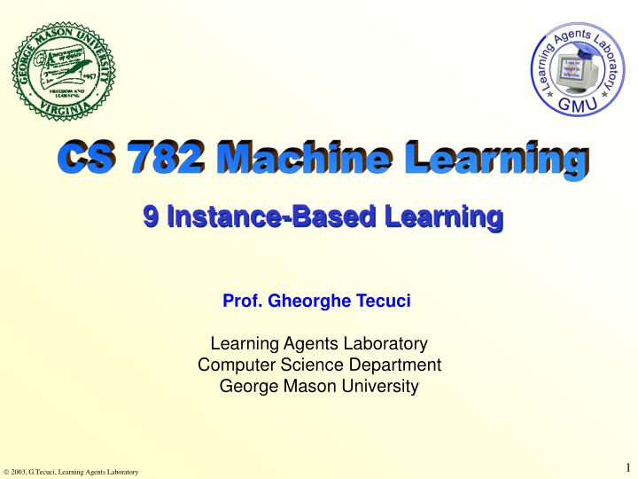 CS 782 Machine Learning