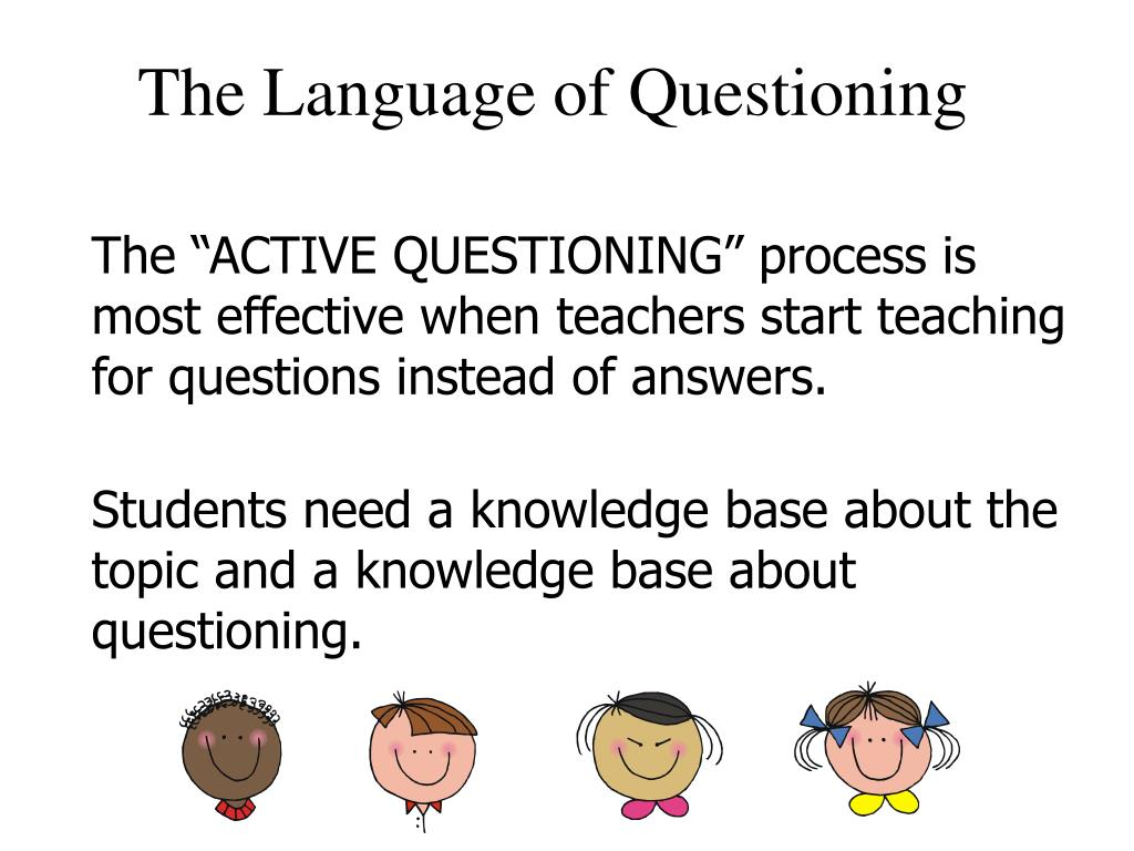 The Language of Questioning