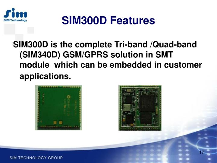 SIM300D Features
