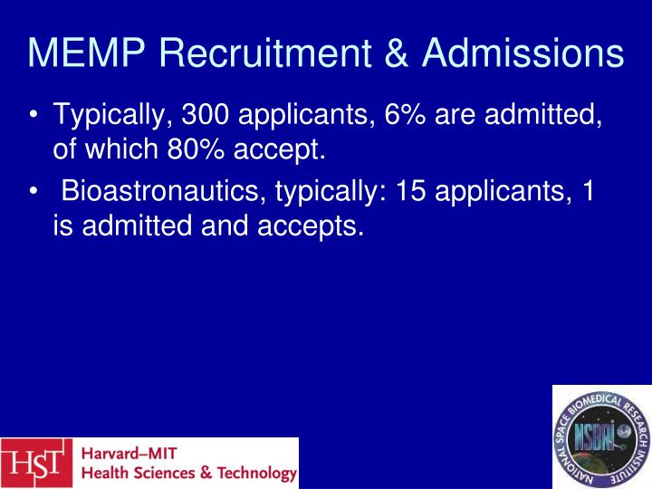 MEMP Recruitment & Admissions