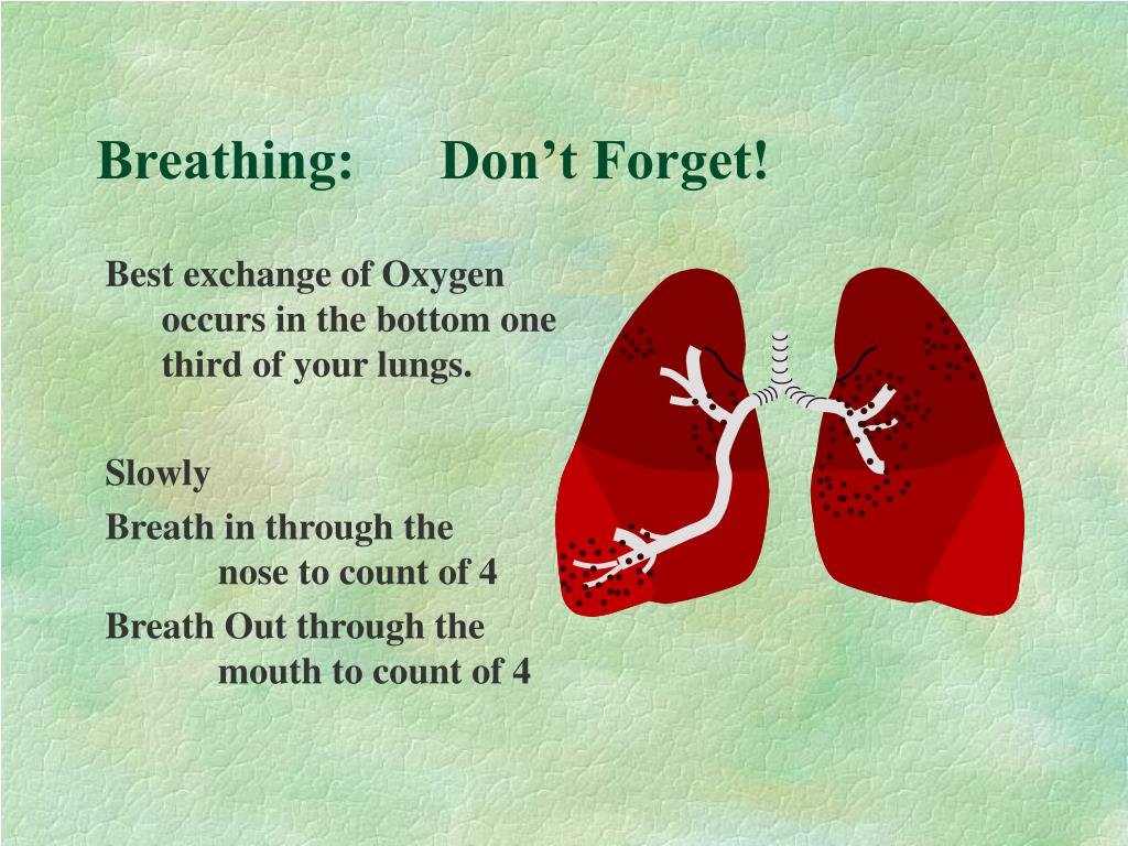 Breathing:      Don't Forget!