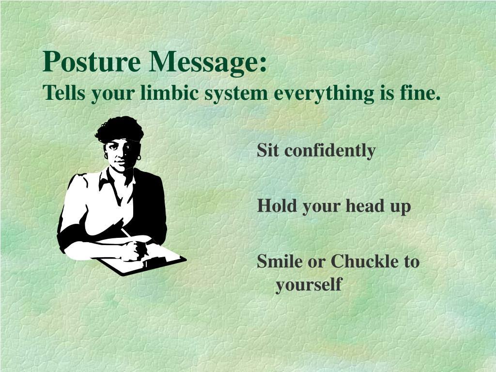Posture Message: