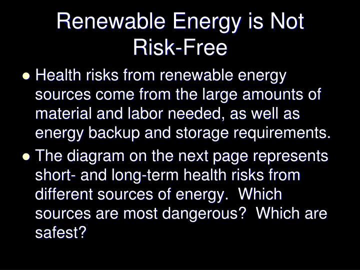 Renewable Energy is Not