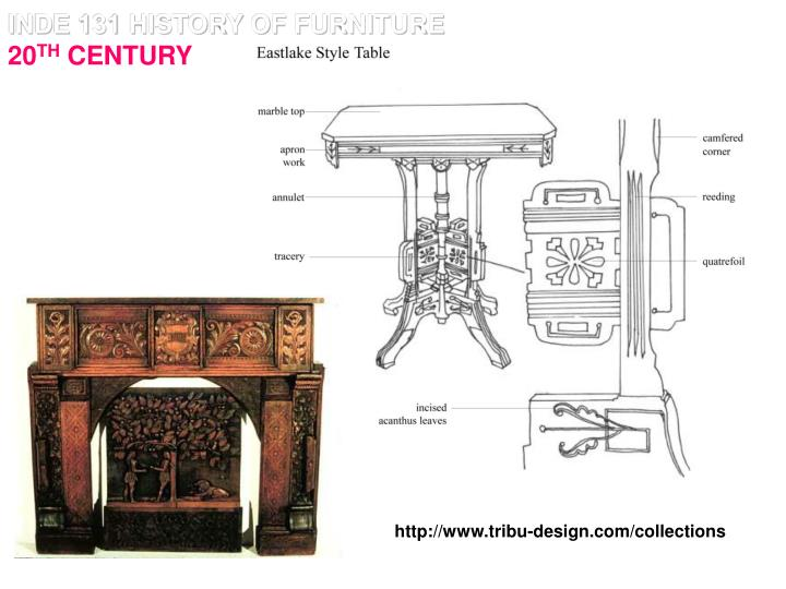 Inde 131 history of furniture 20 th century1