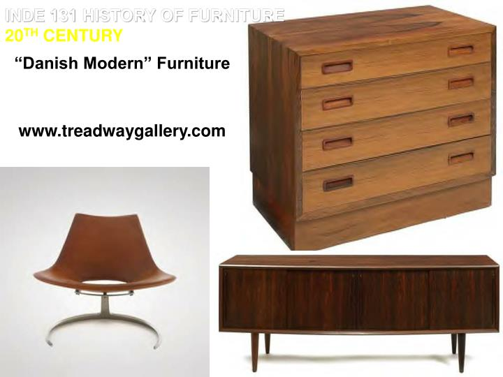 INDE 131 HISTORY OF FURNITURE