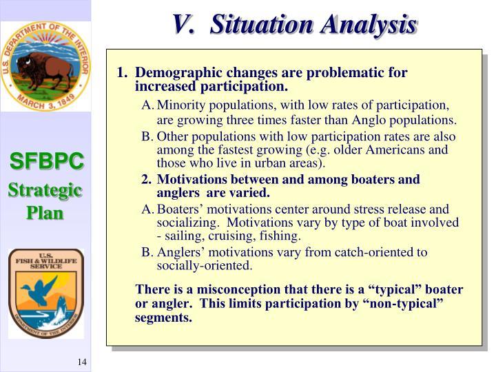V.  Situation Analysis