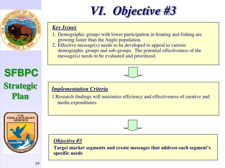 VI.  Objective #3