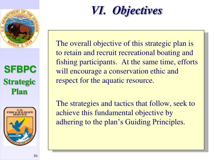 VI.  Objectives