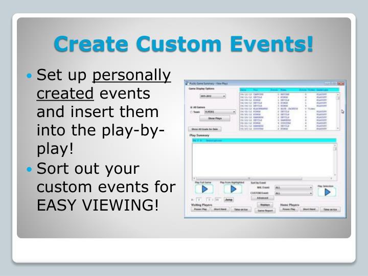 Create Custom Events!