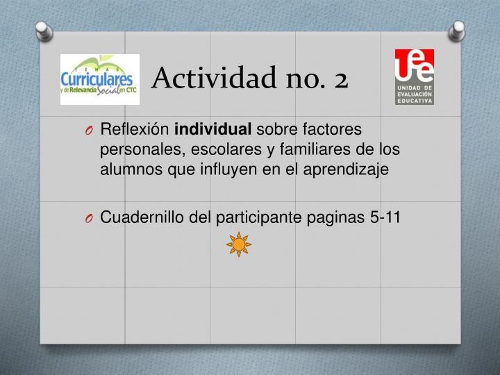Actividad no. 2