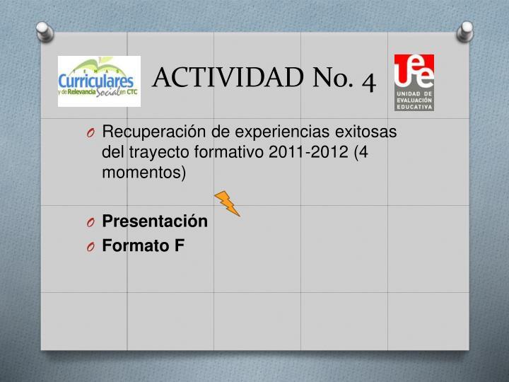 ACTIVIDAD No. 4