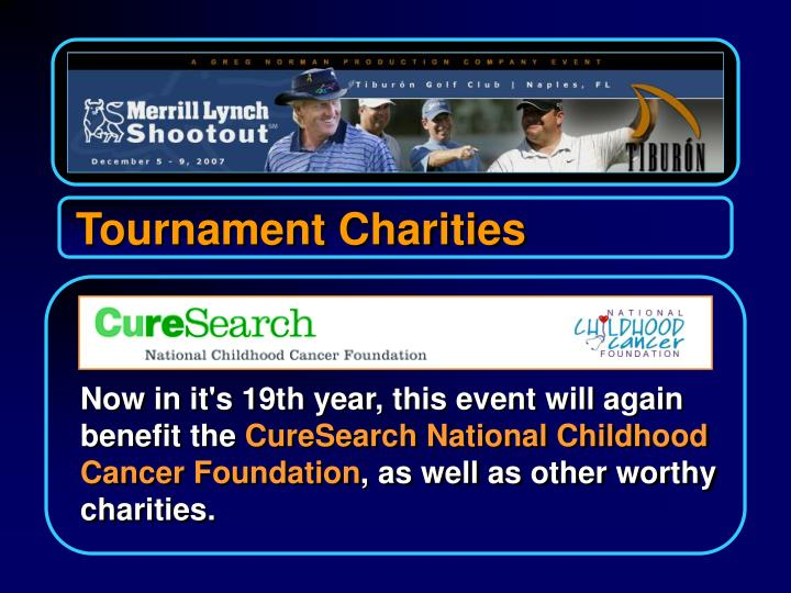 Tournament Charities