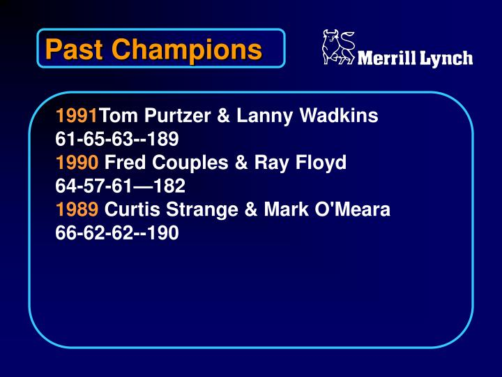 Past Champions