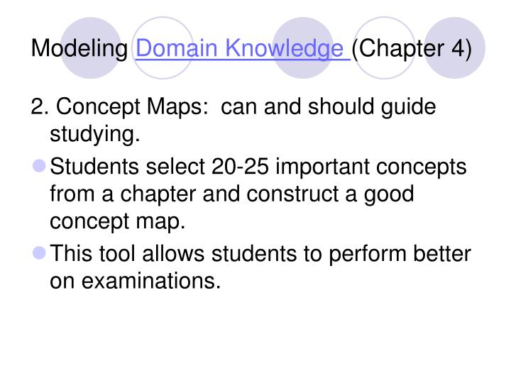 Modeling domain knowledge chapter 41