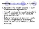 modeling domain knowledge chapter 42